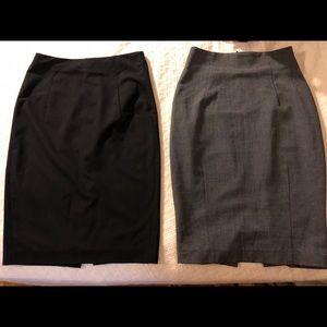 Mid length pencil skirts x 2